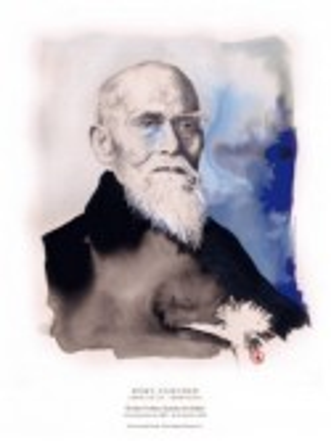 Morihei Ueshiba, Fundador del Aikido (retrato)