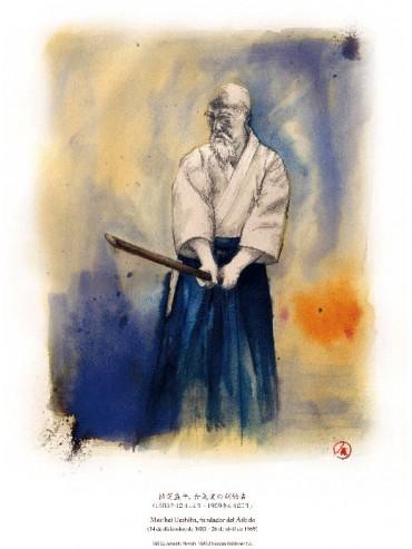 Morihei Ueshiba, Fundador del Aikido (kamae)